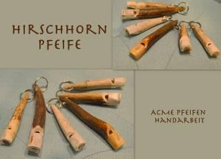 Hirschhorn und Büffelhornpfeifen von ACME
